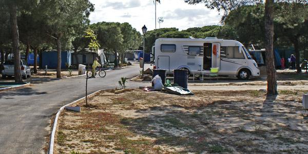 Autocaravana Camping Playa Mazagón