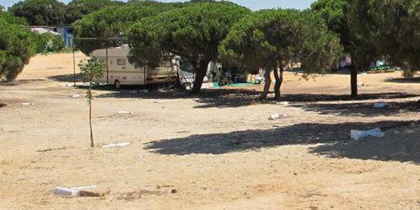 Parcelas caravanas Camping Playa Mazagón