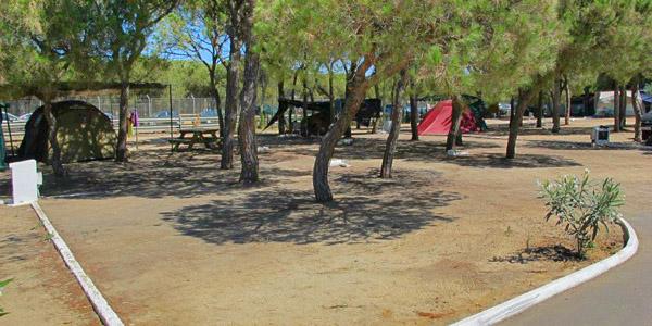Parcelas acampada Camping Playa Mazagón