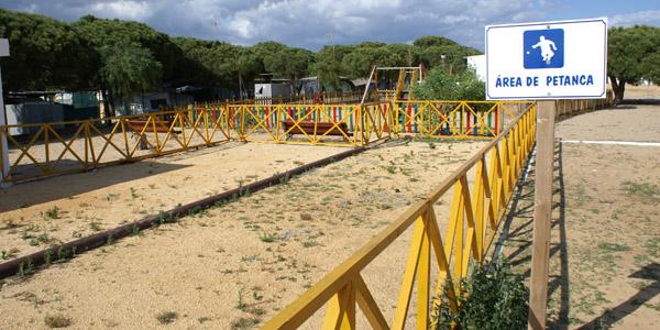 Zona juegos Camping Playa Mazagón